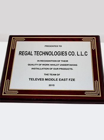 Televes middleeast fze award, regaltech