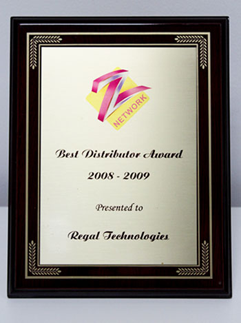 distributor award zee tv, regaltech