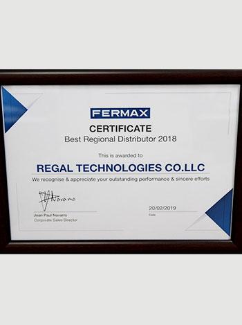 best regional distributor award, regaltech