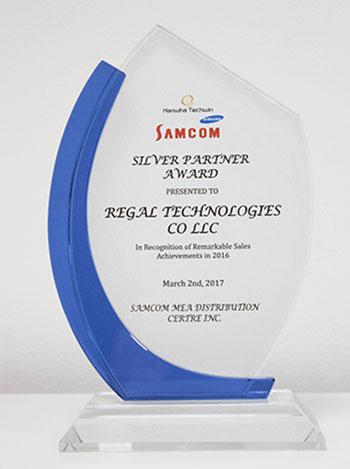 Samcom Partner award, regaltech