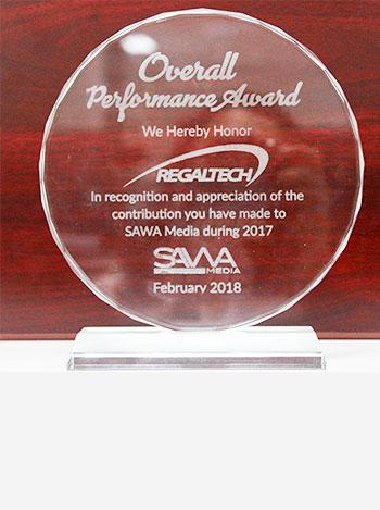 Savva Media Performance Award, regaltech