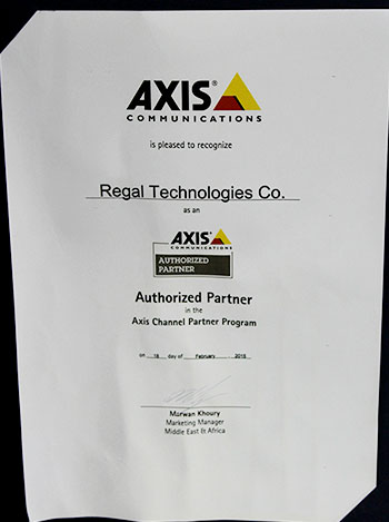 axis communications partner award, regaltech