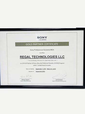 sony gold partner, regaltech